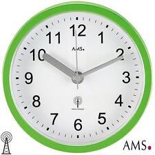 AMS 41 HORLOGE MURALE / de table radio-piloté vert, étanche badeuhr, Ø 16 cm 653
