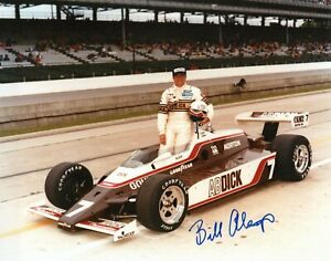 Authentic Autographed Bill Alsup 8x10 Indianapolis Indy 500 Photo
