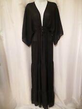 Ttiff by Tt Black Bell Sleeve Long Maxi Dress L
