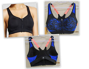 Champion Women's Power Shape Max Support Racerback Sports Bra BLUE or BLACK
