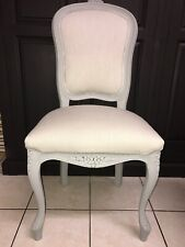 French Louis Style Bedroom Chair In Laura Ashley Dawson Fabric Dove Grey