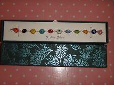 Women's 925 Sterling Silver EVIL EYE Bracelet Multi-Color in GIFT BOX