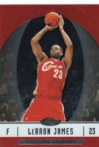 06-07 Topps Finest Base Card LeBron James Cavaliers Set Break
