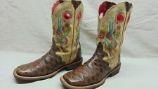 Ariat 10006764 Women's 8.5 Brown Anteater Embossed Leather Live Ride Boots