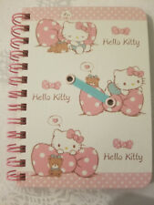 Sanrio Hello Kitty Spiral Notebook Hard Cover Dotted Bows