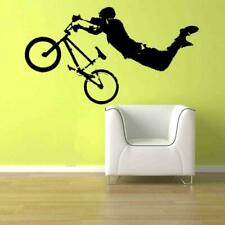 Bmx Vinyl Wall Decal Sticker Boy Bedroom Bedset Bedding Cute Bicycle Sports