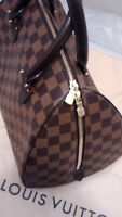 LOUIS VUITTON LV Ribera MM Handbag Boston Authentic Bag Damier Canvas CA 1005