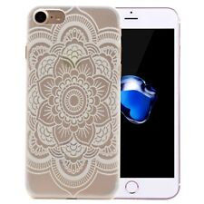 iPhone 7 Lotus Full Flower Pattern Transparent PC Protective Case