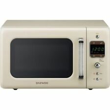 Daewoo KOR7LBKC 800W 20L Retro Style Microwave Oven - Cream
