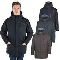 Trespass Stonegate Mens Waterproof Jacket with Hood in Khaki & Black