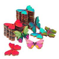2 Holes Mixed Bulk Butterfly Phantom Wooden Sewing Buttons Scrapbooking 50Pcs