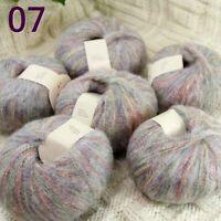Sale 6SkeinsX50gr Soft NEW MOHAIR Wool Scarf Hand Knit Crochet Yarn 07