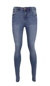 Ladies Ripped High Waist Super Skinny Denim Spandex Jeans 34'' Leg Trouser