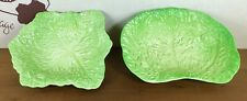 Very Rare All Green Beswick Vintage 338 Cabbage And Tomato Bowl & 217 Bowl