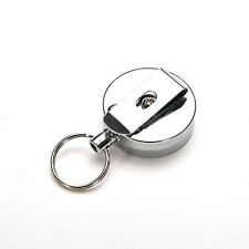 Full Metal Keychain Stainless Steel Retractable Key Recoil Pull Chain wc