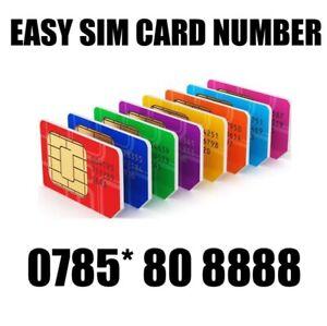 GOLD EASY VIP MEMORABLE MOBILE PHONE NUMBER DIAMOND PLATINUM SIMCARD 808888