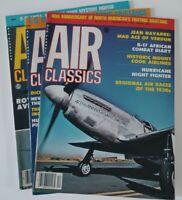 3 Issues of 1980 Air Classics Magazine Jul Aug Dec