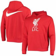 Nike Liverpool FC  2020 2021 Core Badge Hooded Top Brand New Red White