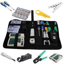 9 teilig Netzwerk Werkzeug Set LAN LSA Kabeltester Crimp Stecker Zange EC 08