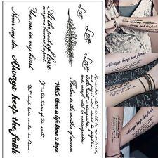New Removable Temporary Tattoo English Word Body Art Tattoos Sticker Waterproof
