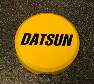 """KC Daylighter Datsun Hard Light Cover Yellow w/ Black Decals 6"""" Hilites"""