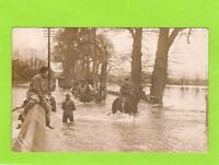 A Floods Flooding Salisbury Plain  1915 unused RP pc  Fuller Amesbury