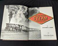 Vintage Super Power Steam Locomotives Hardcover Book  Richard J. Cook 1966 Train