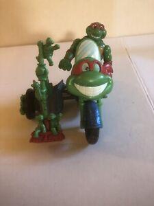 RARE 1993 Playmates TMNT Teenage Mutant Ninja Turtles Motorcycle Set