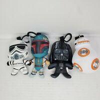 Star Wars Keychain Plush Lot Darth Vader BB-8 Boba Fett Star Trooper Collectible