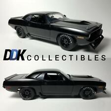 ACME 1806108 1970 Barracuda Trans Am Stain Black Street Version Diecast Car 1:18