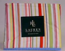 New Ralph Lauren Harbor View Queen Flat Sheet