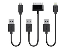 Belkin 6 Inch 30 Pin Lightning to Micro USB Cable (pack of 3)