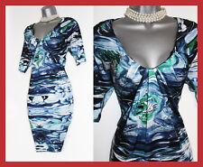 Karen Millen Geographic Print Silk Jersey Batwing 3/4 Sleeve Dress UK10  EU38