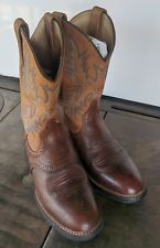 Ariat Barrel Leather Western Cowboy Boots Womens Size 7 1/2D