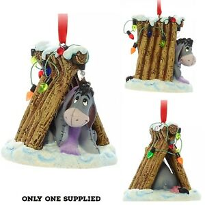 Disney  Winnie The Pooh Festive EEYORE Christmas Hanging Ornament Tree Decor New