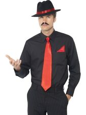 Gangster Hat Tie Instant Kit Mens 1920s Fancy Dress Costume Outfit Accessories