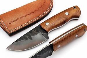 "243 CUSTOM MADE CARBON STEEL SKINNER KNIFE 7"" | FULL TANG | WOOD HANDLE"