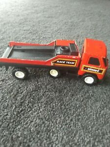 Buddy L Vintage Diecast Red Black Truck and Trailer Made in Hong Kong