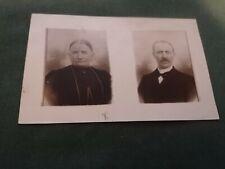 ancienne photo carte postale  couple en pose