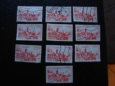 MAROC - timbre yvert et tellier n° 262A x10 obl (A29) stamp morocco (Y)