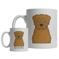 Norfolk Terrier Dog Cartoon Mug - Personalized Text Coffee Tea Cup