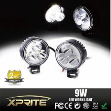 2X 9W 3 LED Spot LED Light Off Road Round Work Reverse Lamp For Truck 4WD 4X4