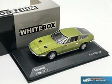 Maserati Indy 1971 Metallic Light Green WhiteBox WB084 1:43