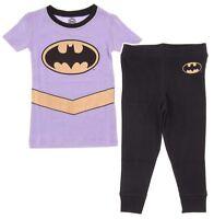 Intimo Girls Lavender Batgirl Cotton Pajama Set Snug Fit Pajamas PJs
