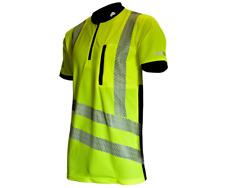 Treehog Hi-Viz T-shirt PPE Safety Polo Shirt Arbortec Chainsaw Tree Surgeon M