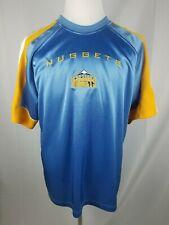 NBA Denver Nuggets Shirt Men's Large Short Sleeve Shiny Basketball Shirt