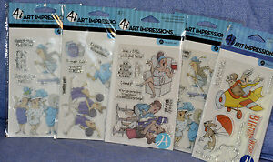 Hampton-Art Impressions clear stamps:humor: you choose / Combined shipping: NEW!