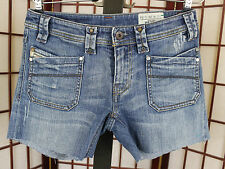Diesel Womens Keate Jeans Cut Into Shorts Sz 26W 0086N Slanted Pocket Stretch