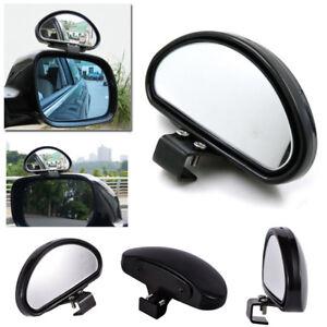 1pc Black HD Car Van Adjustable View Blind Spot Wide Angle Rear Mirror #080