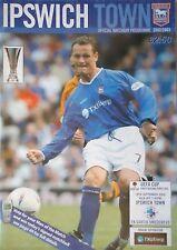 Programm UEFA Cup 2002/03 Ipswich Town - FK Sartid Smederovo